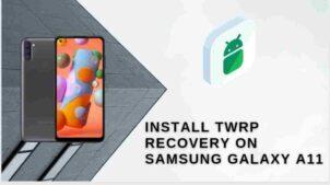 twrp on galaxy a11