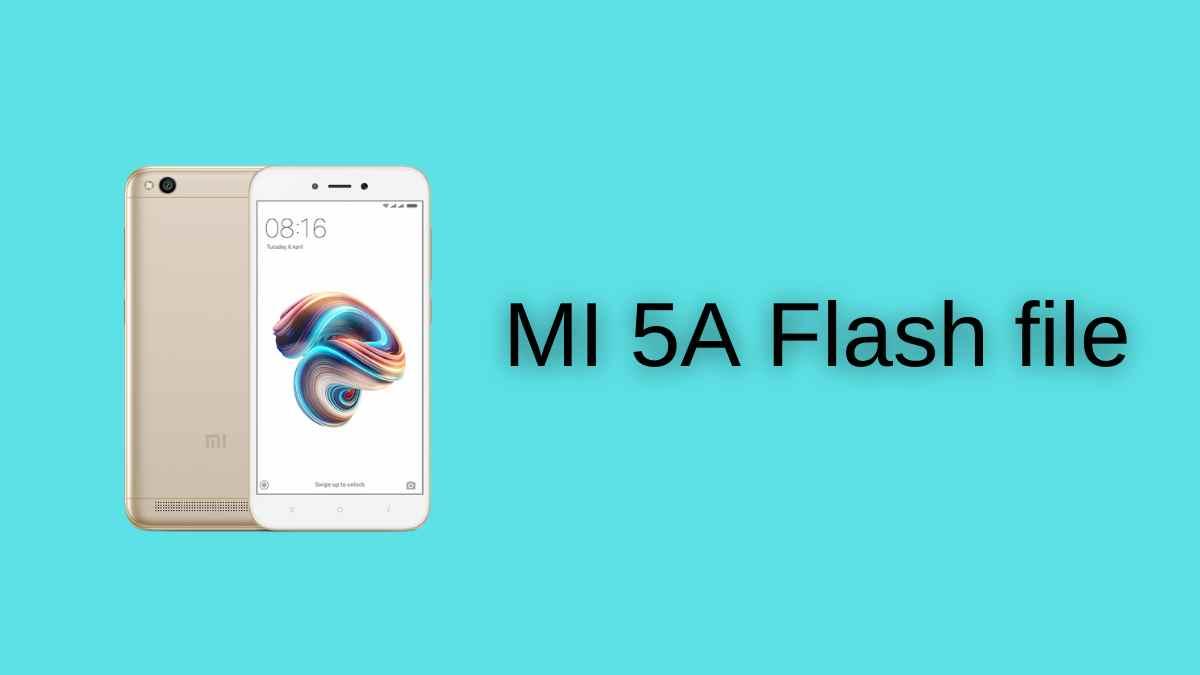 MI 5A Flash file