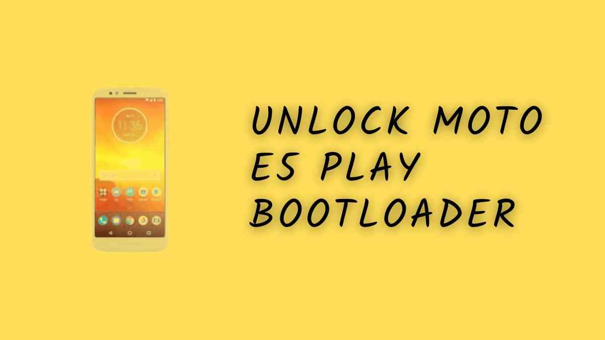 Unlock Moto E5 Play Bootloader