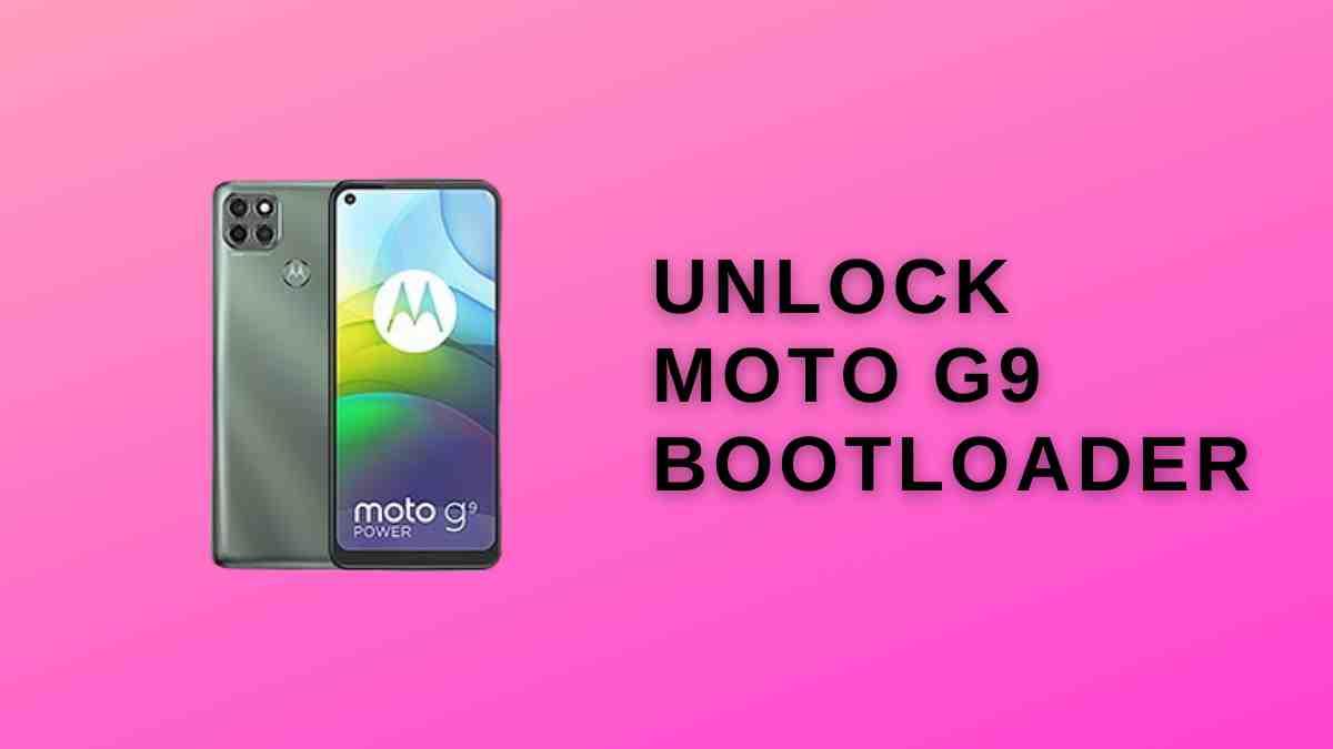 Unlock Moto G9 Bootloader